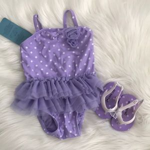 Old Navy 3-6month bathing suit and sandels